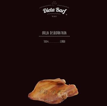 "Foto de Oreja Deshidratada de Cerdo ""Dieta Barf"" Pack de10 unidades -Complemento-"