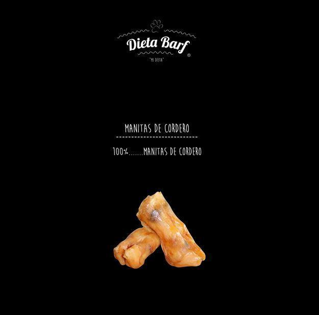 """Foto de Manitas cordero deshidratadas """"Dieta Barf"""" 10 bolsas de 100g"""