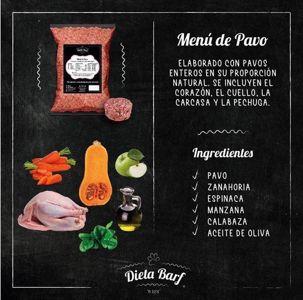 "Foto de Menú Pavo ""Dieta Barf"". Pack 9Kg"