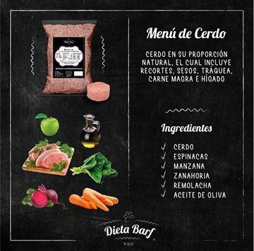 """Foto de Menú Cerdo """"Dieta Barf"""" Pack 9Kg"""